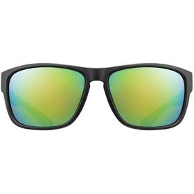 UVEX LGL 36 CV Glasses black mat/mirror green